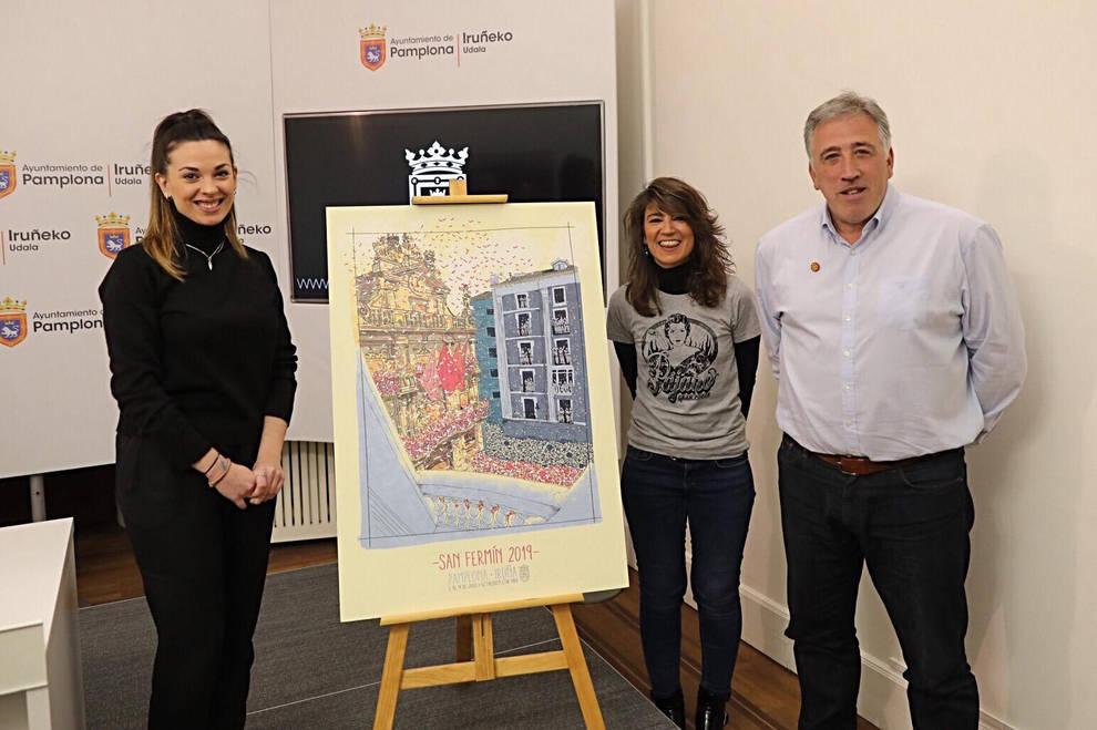 Agradecido elevación Ninguna  El cartel ganador de San Fermín de 2019 es 'Ayer soñé con un 6 de julio' |  Noticias de San Fermín en Diario de Navarra