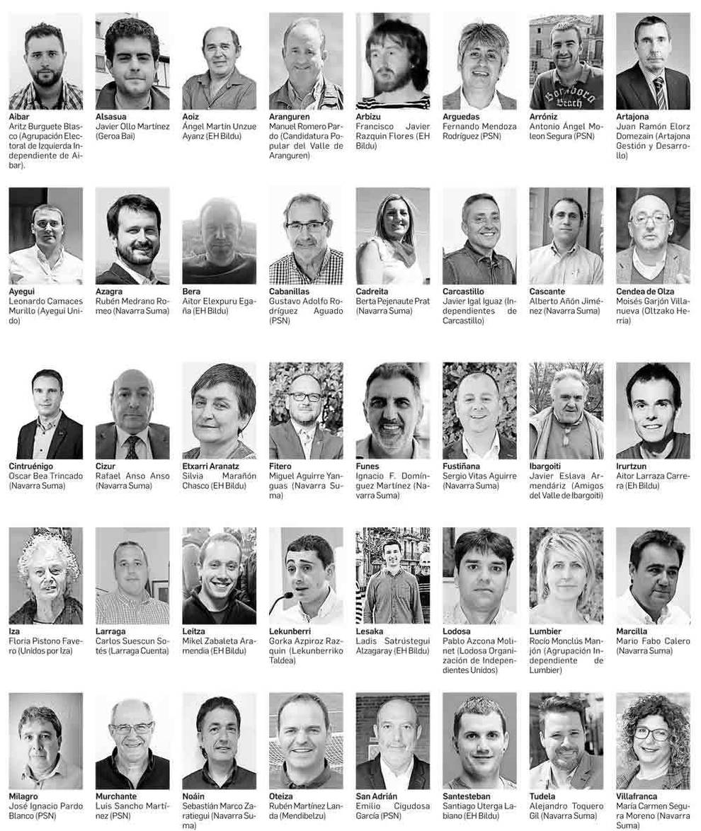 Los primeros alcaldes de Navarra tras el 26M