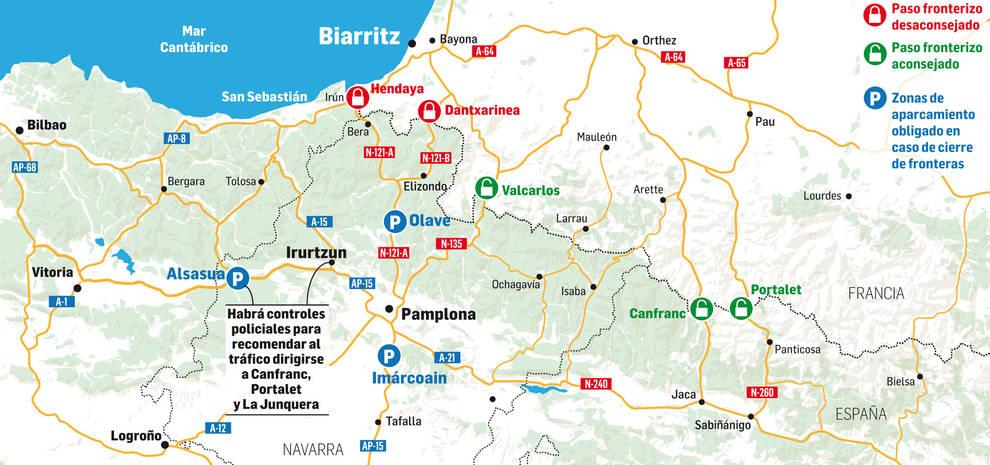 Gráfico de las afecciones que ocasionará la cumbre del G7 en Biarritz