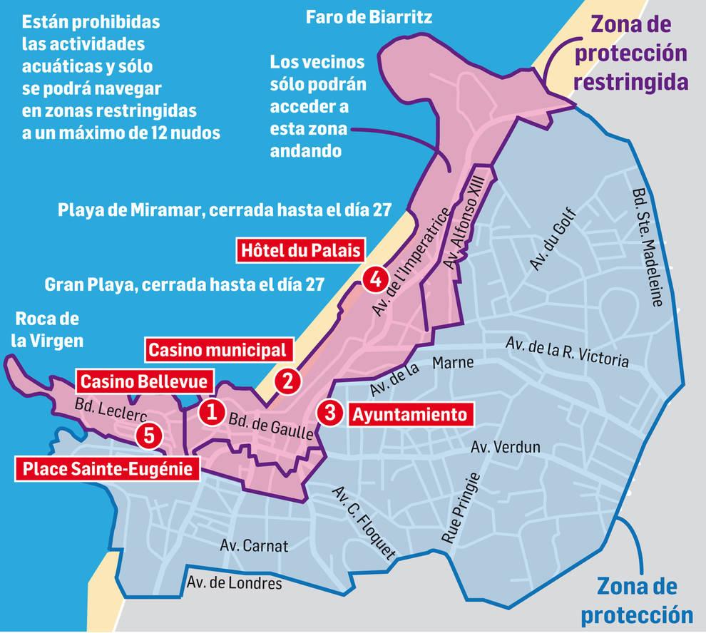 Zonas de Biarritz cerradas por la cumbre del G7