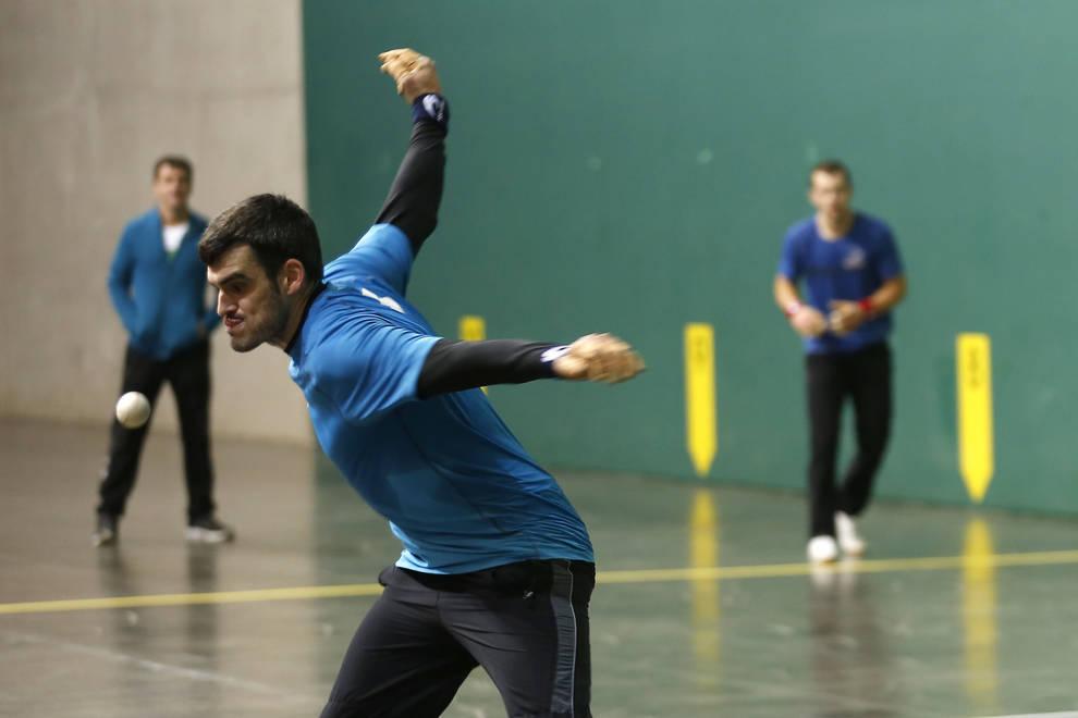 Ezkurdia y Altuna se han entrenado en el Navarra Arena