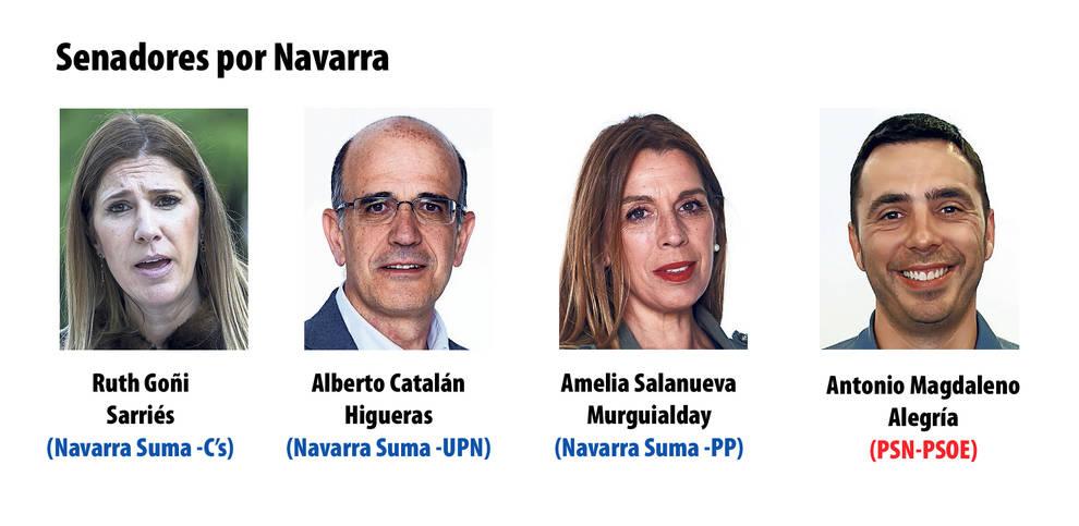 Senadores por Navarra el 10N