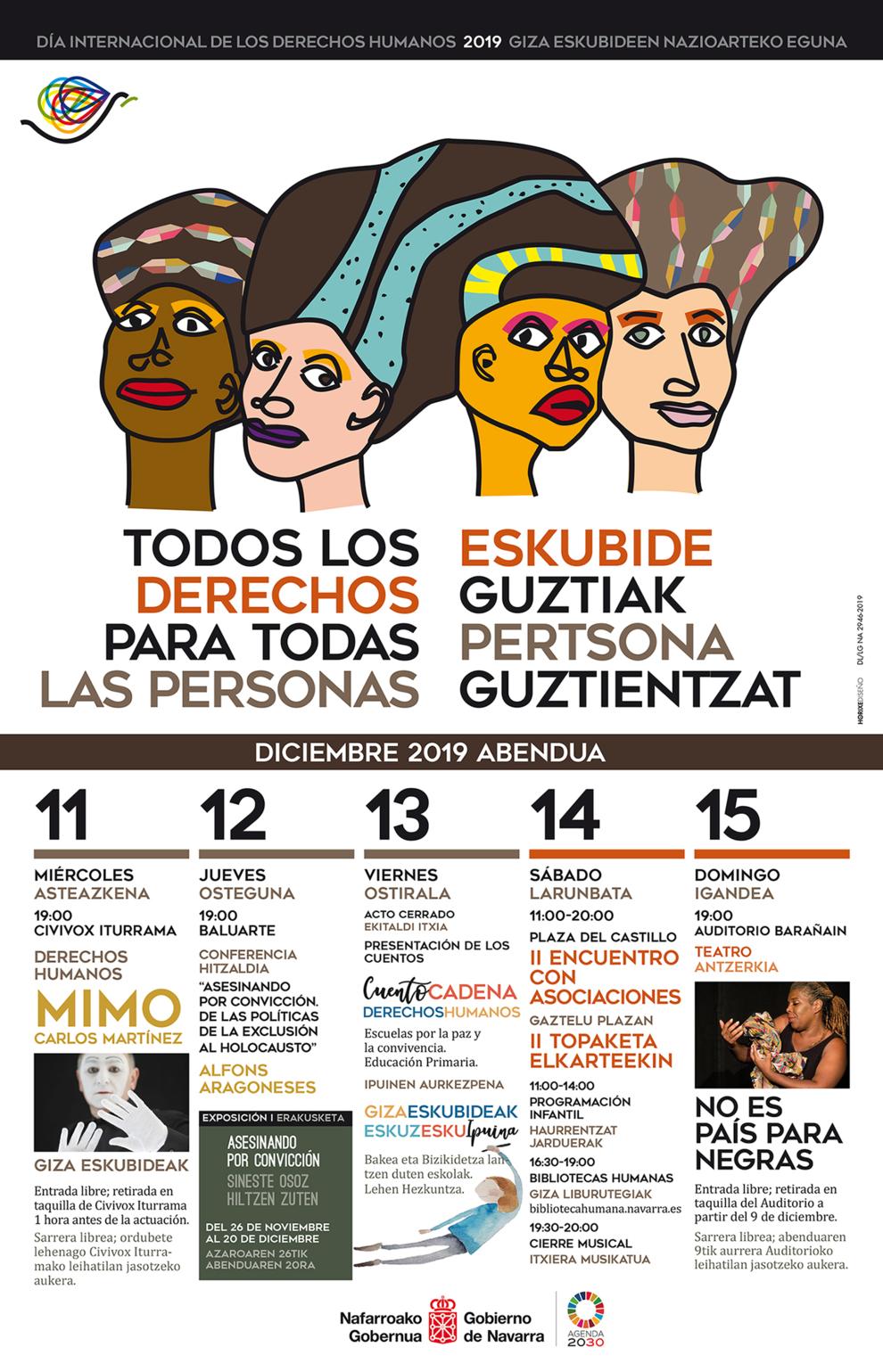 Actividades para todos los públicos para celebrar el Día de los Derechos Humanos