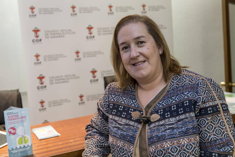 Marta Galipienzo, presidenta del Colegio de Farmacéuticos de Navarra.