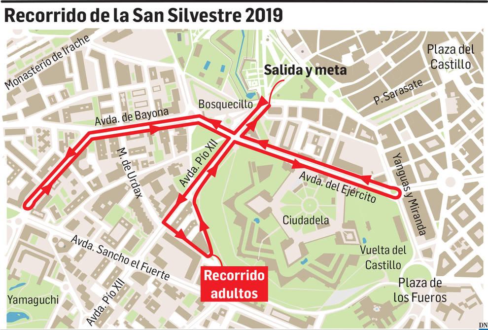 Cambios en la salida de la San Silvestre de Pamplona