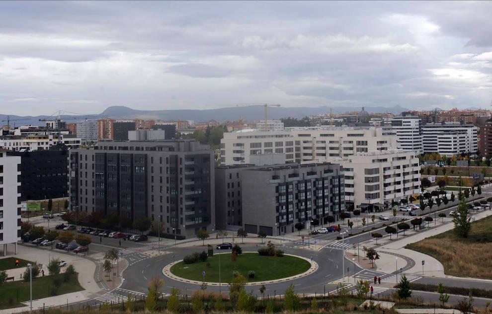 Vista del barrio de Lezkairu en Pamplona