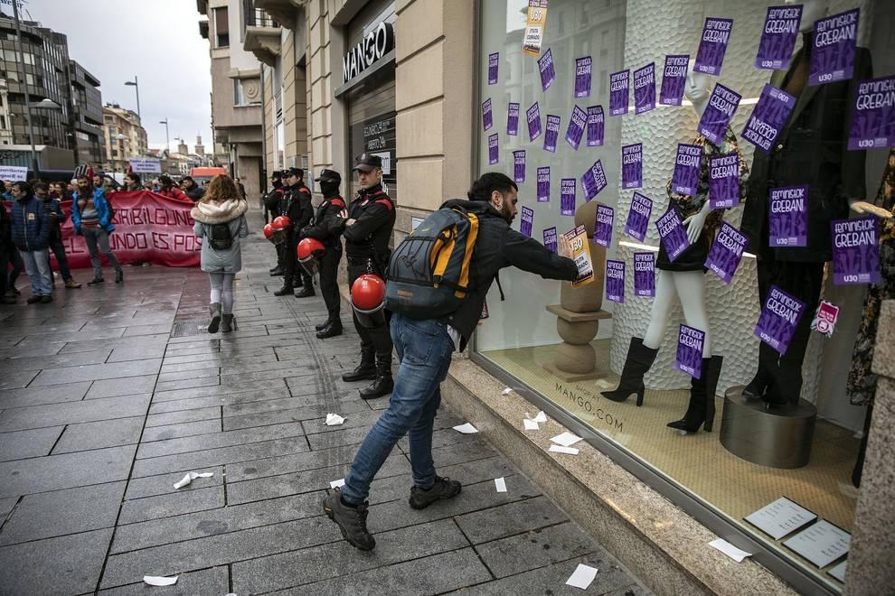 Fotos de la huelga de los sindicatos nacionalistas