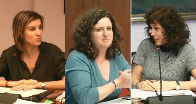 Nuria Medina, Marta Álvarez y Patricia Perales.