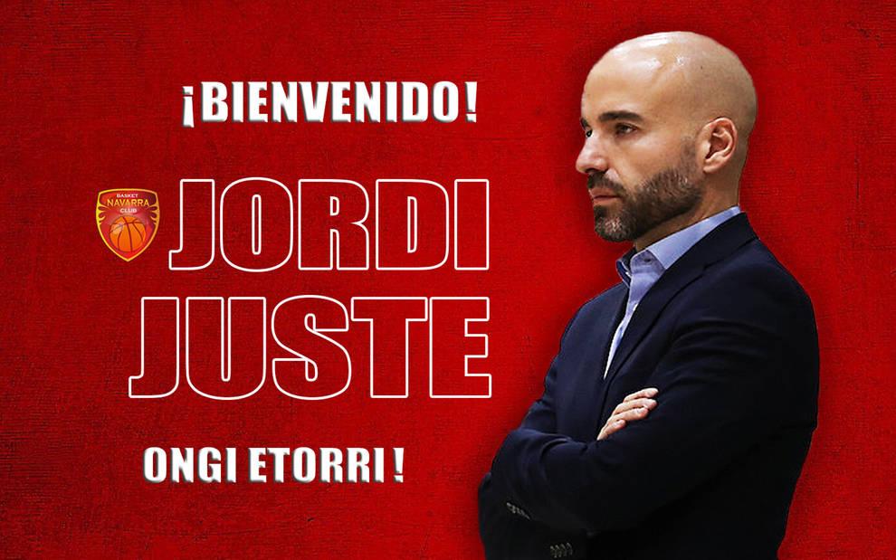 Anuncio del Basket Navarra de su nuevo entrenador, Jordi Juste.