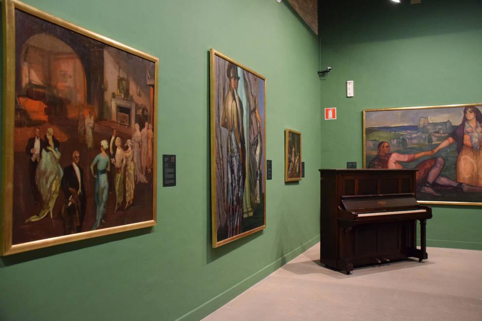 """El Museo Gustavo de Maeztu invita a los jóvenes a """"vivir"""" los óleos del alavés a través de los sentidos"""