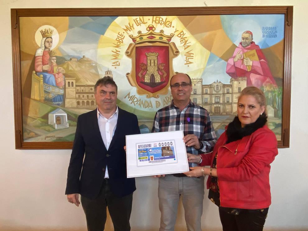 El cupón de la ONCE difunde la imagen de la torre del reloj de Miranda de Arga