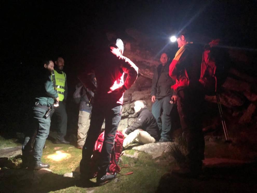 Rescatados en el Gorramendi dos montañeros franceses de avanzada edad