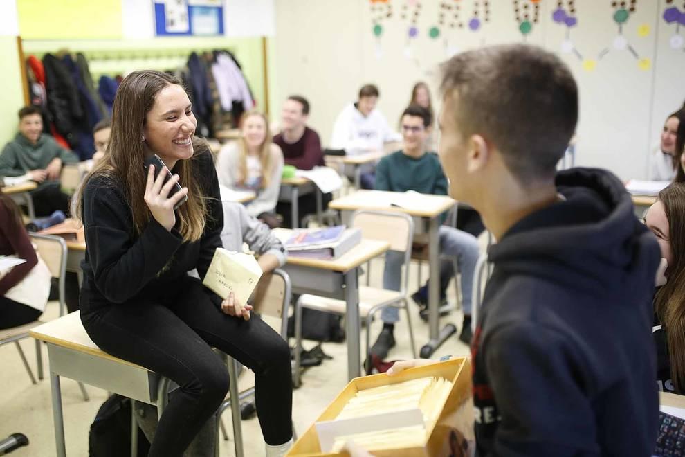 Una semana sin móvil en el colegio Larraona