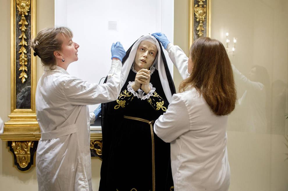 El Ayuntamiento inicia la restauración de la imagen de La Dolorosa y de sus andas procesionales