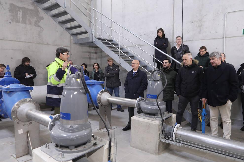 Arazuri ya cuenta con nueva estación de bombeo de aguas residuales