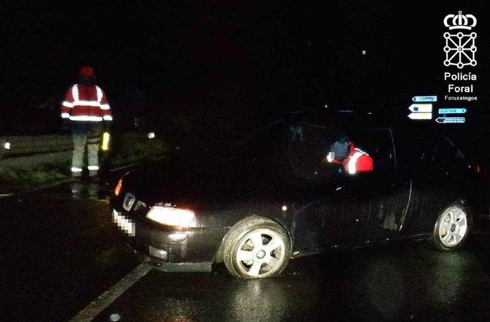 Tres imputados este fin de semana en accidentes de tráfico en Navarra