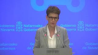 María Chivite, en directo