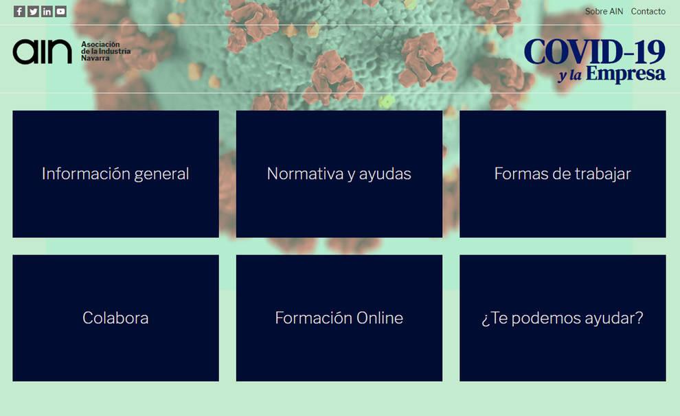 AIN lanza una web sobre el coronavirus para empresas y profesionales