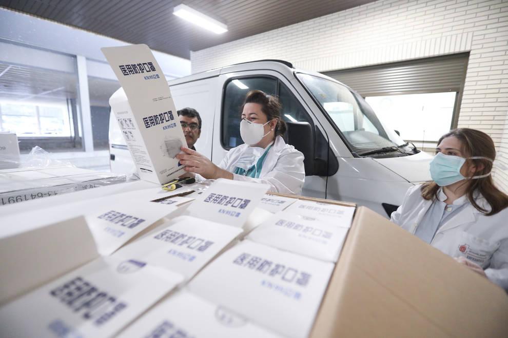 El Hospital Reina Sofía de Tudela recibe 51.000 unidades de protección sanitaria