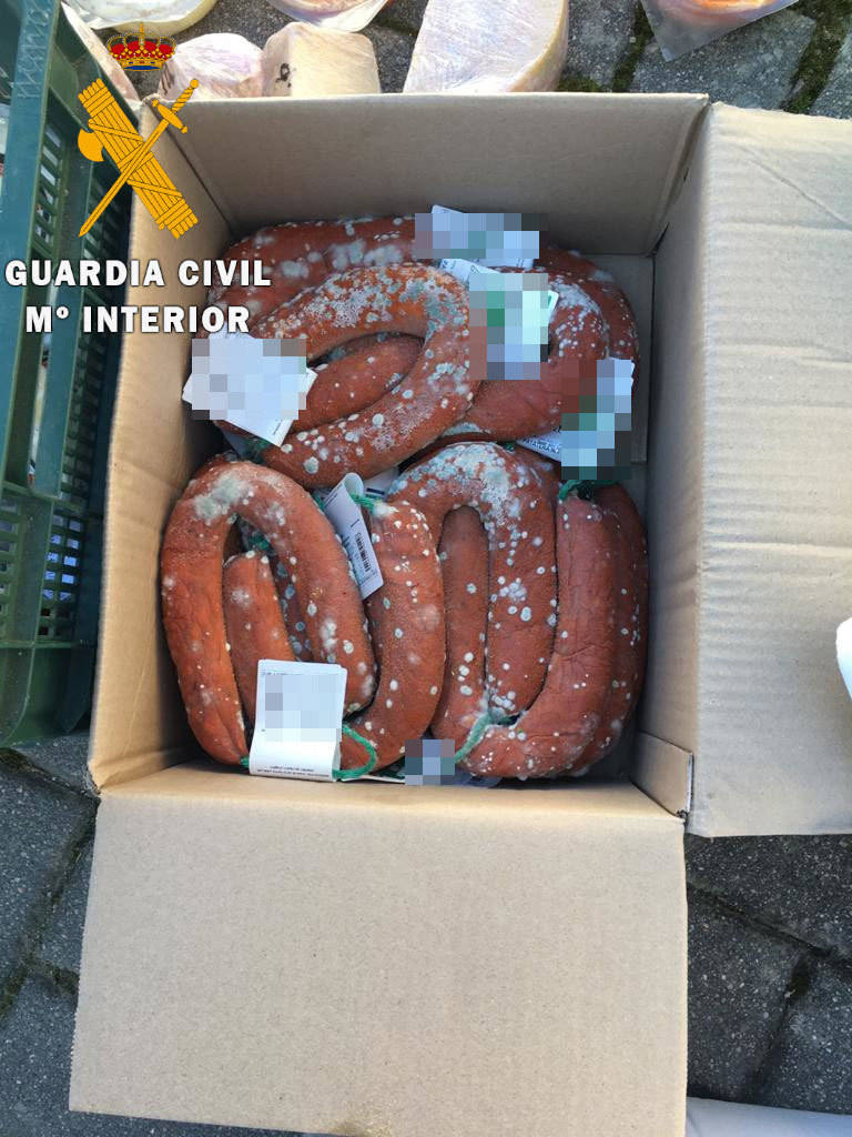 Incautados 100 kilos de alimentos en mal estado destinados a un mercado medieval