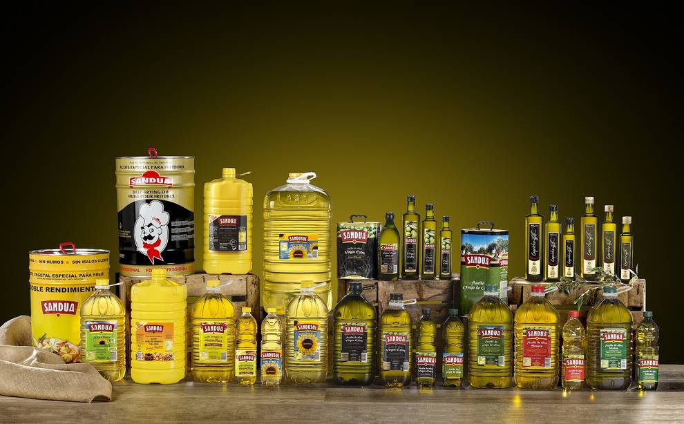 Fotografía de los diferentes productos de la marca Sandúa.