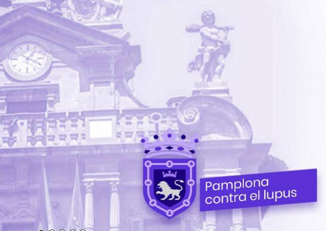La web del Ayuntamiento de Pamplona, teñida de morado.