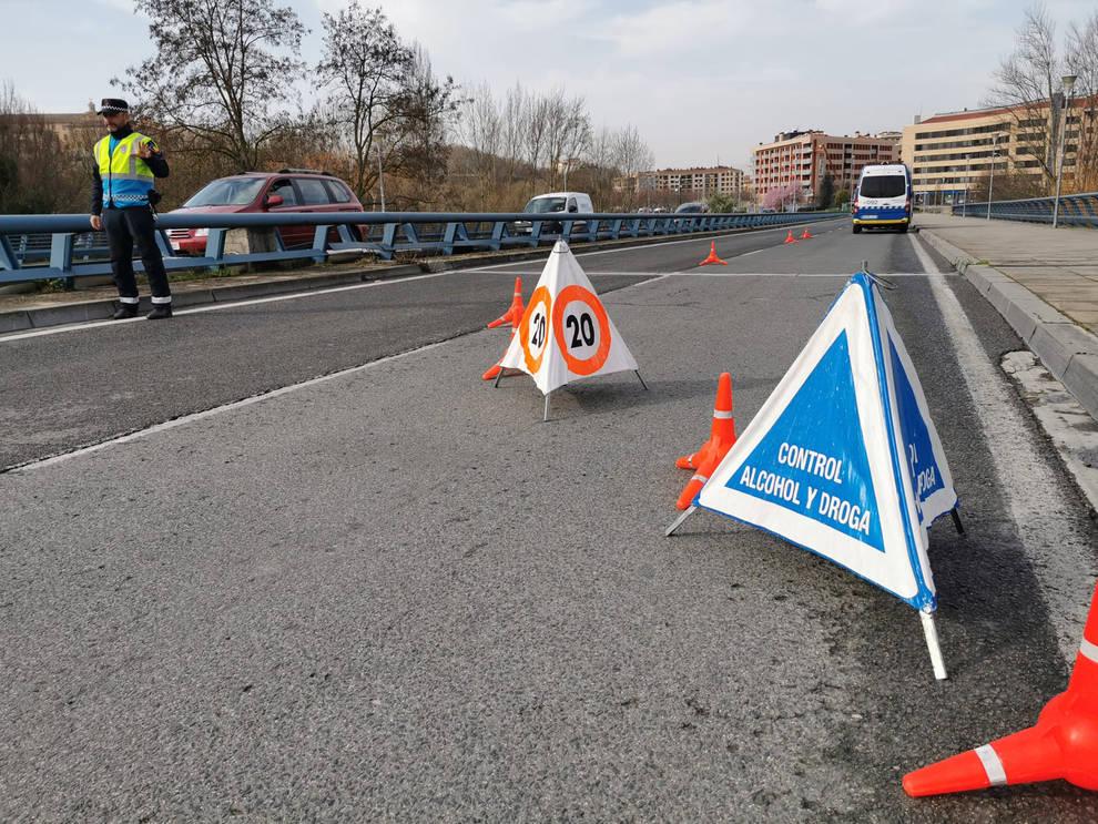 Denunciadas en Pamplona tres personas en un coche procedente de Valencia