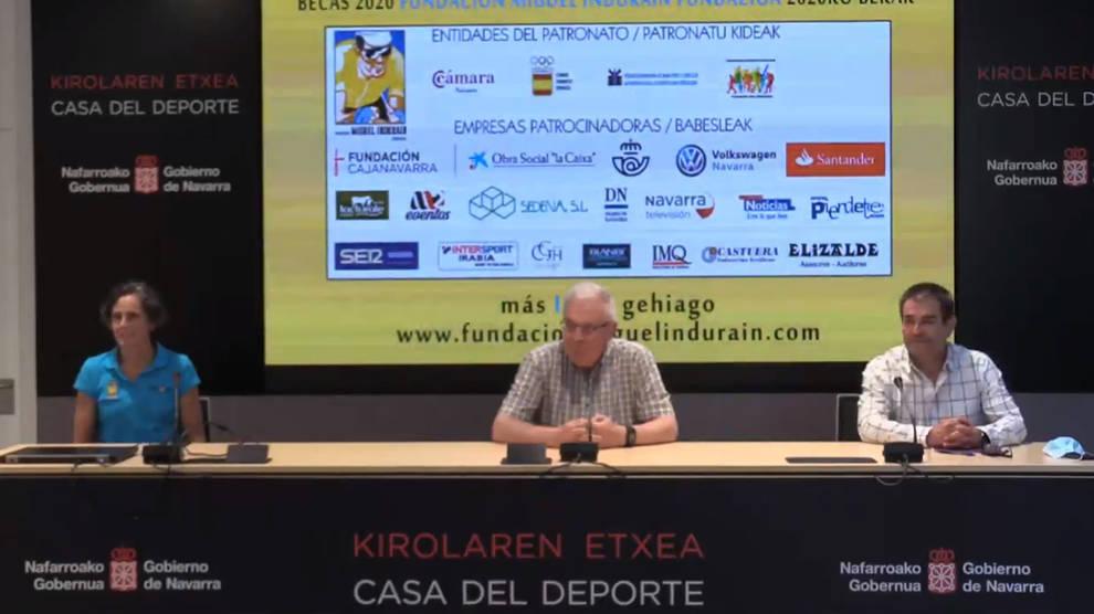 Presentación de las becas de la Fundación Miguel Induráin Fundazioa