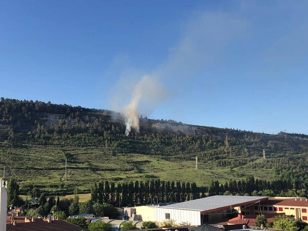 Declarado un incendio en el monte San Cristóbal