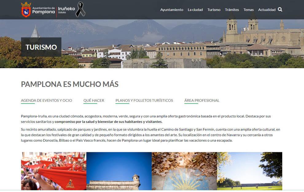 La web de turismo de Pamplona estrena un diseño adaptado