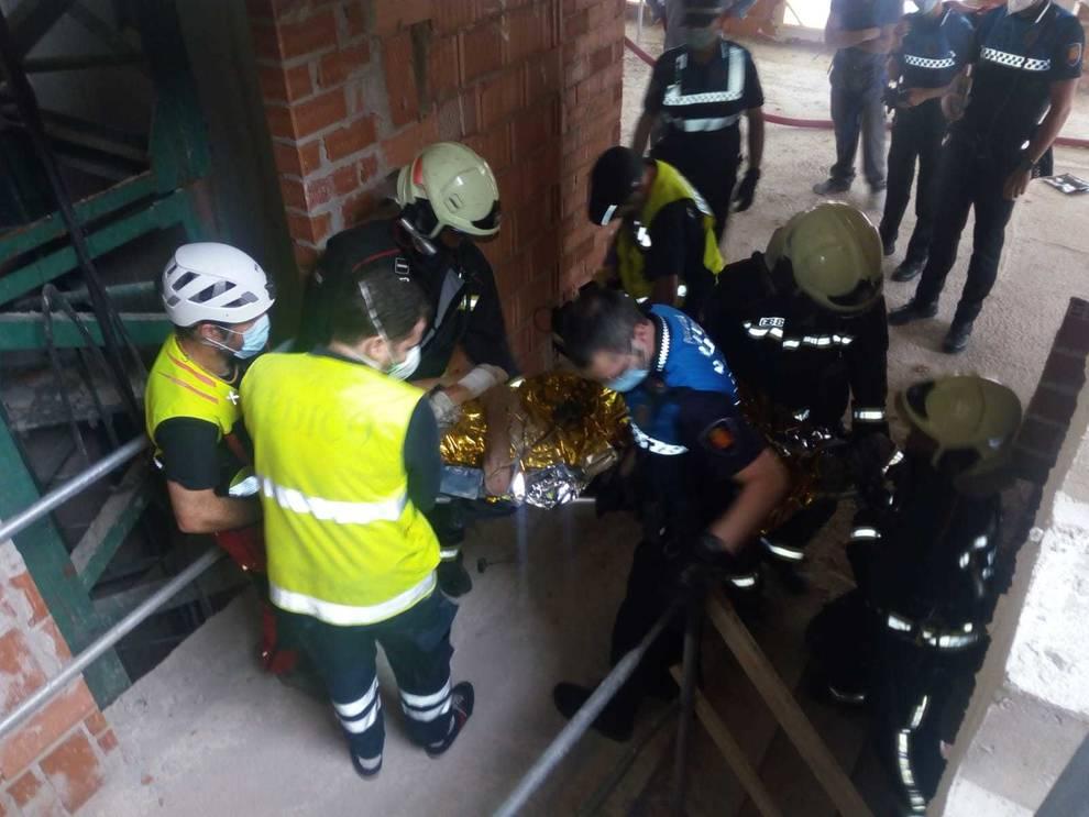 Herido grave un trabajador de la construcción en Pamplona
