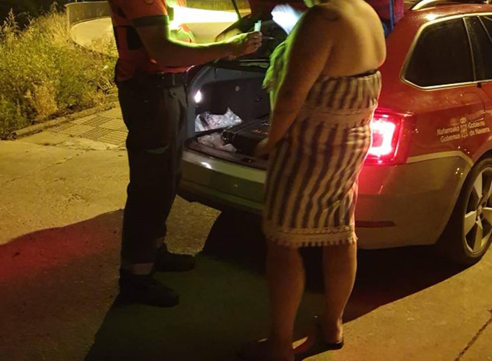 Le incautan éxtasis a una conductora en Tudela, que dio positivo en drogas
