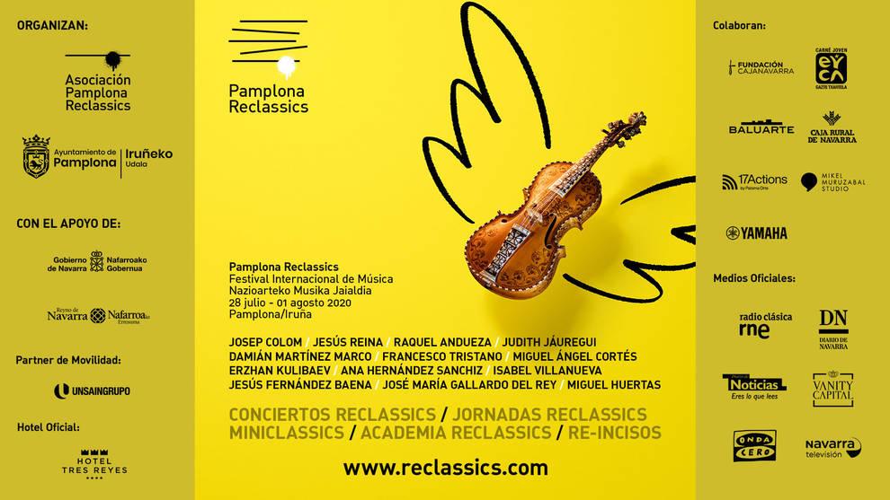 Cartel del festival Pamplona Reclassics de música clásica.