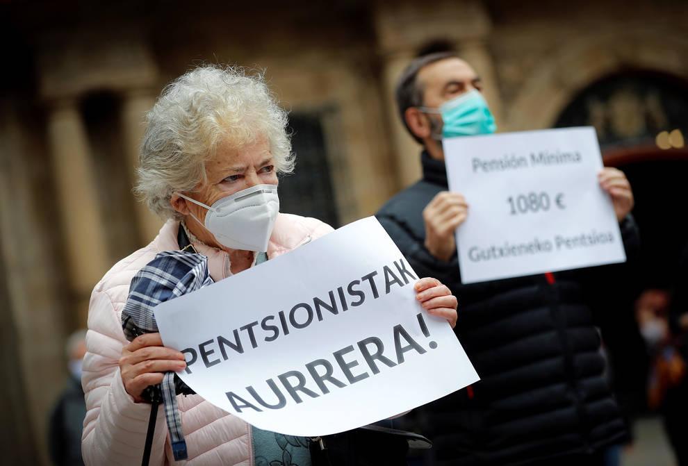 Pensionistas navarros retoman sus movilizaciones a favor de una pensión mínima de 1.080