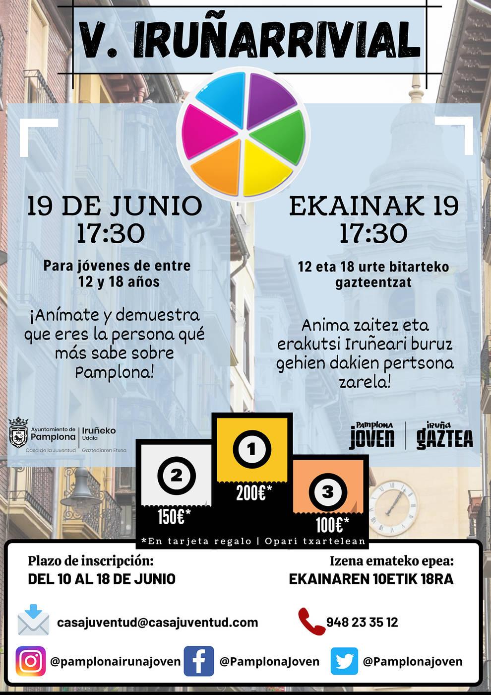 Este miércoles comienza la inscripción para el V Iruñarrivial
