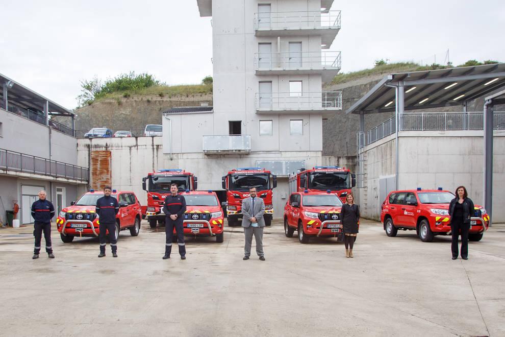 Bomberos de Navarra renueva su flota con la incorporación de siete nuevos vehículos
