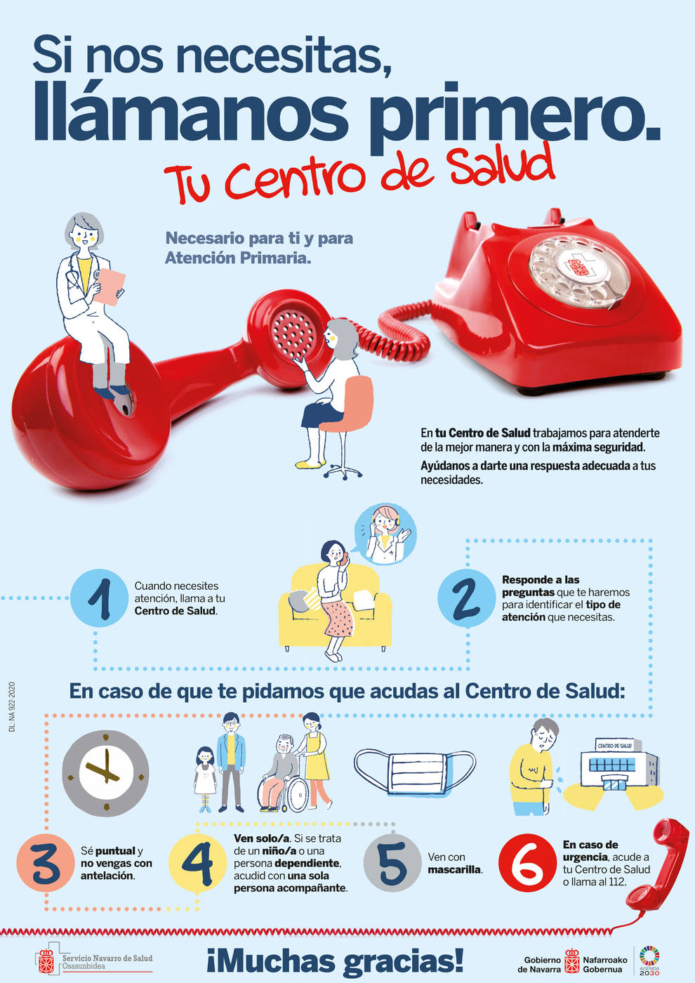 Salud lanza una campaña para reforzar la seguridad en Atención Primaria