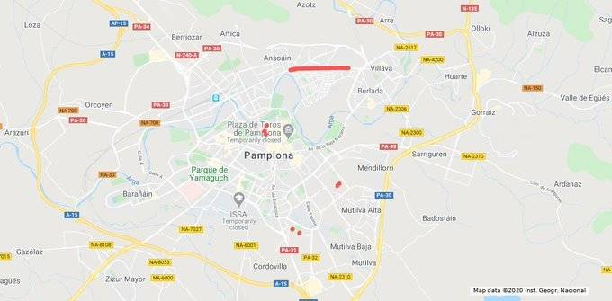 Estos son los cortes de tráfico de este miércoles en Pamplona