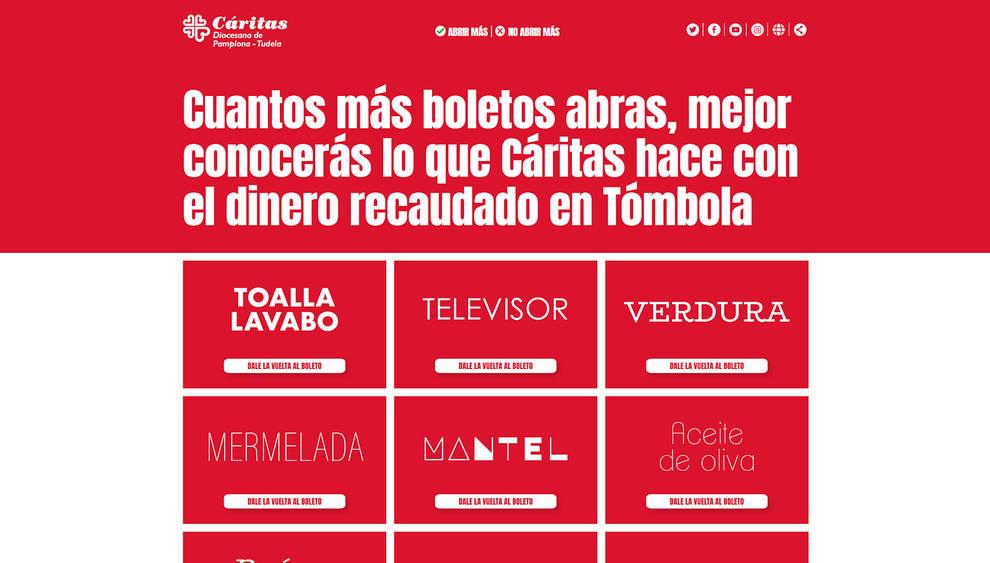 Cáritas lanza boletos solidarios para ayudar a familiar en situación difícil