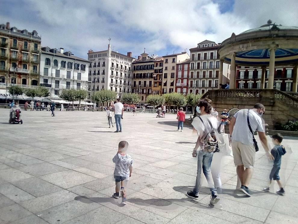Plaza del Castillo a las 11.45