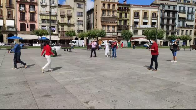 La plaza del Castillo, este 6 de julio a las 11 de la mañana