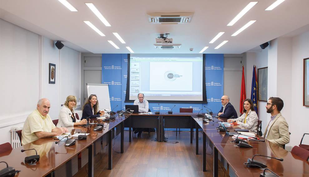 Momento de la reunión de la Comisión Interdepartamental.