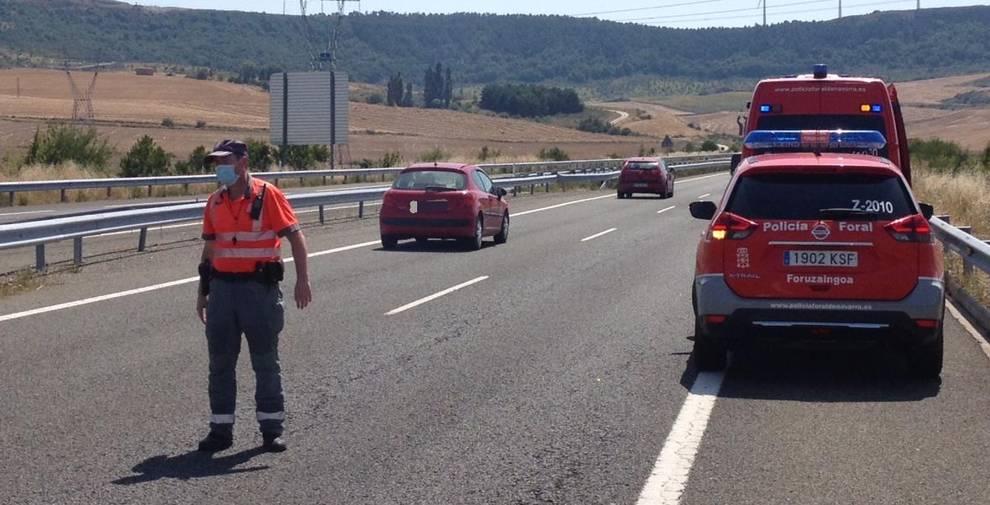 Dos colisiones múltiples en la A12 han provocado seis heridos leves