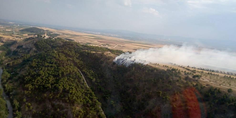 Controlado un incendio en Cárcar provocado por un rayo