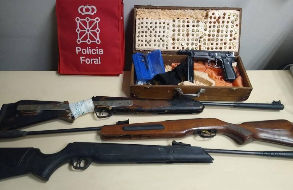 Detenido en Tafalla por tenencia ilícita de armas