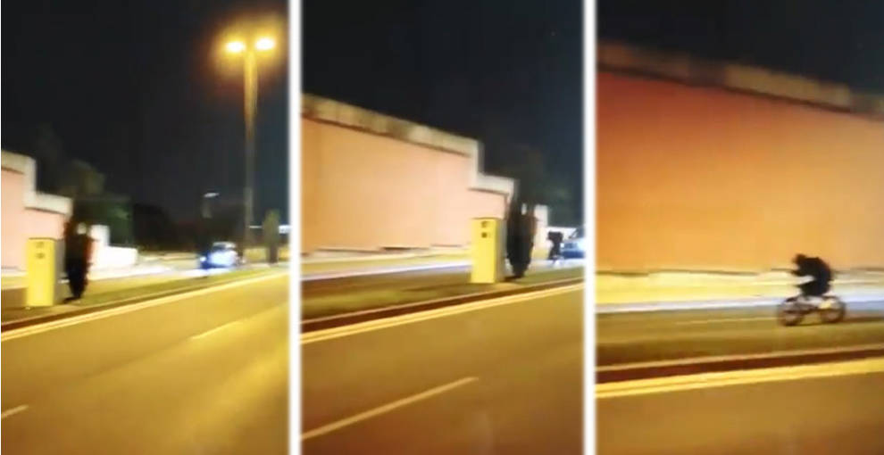 Dos denunciados por agarrarse con la bici a un coche para ver si el radar detectaba su velocidad