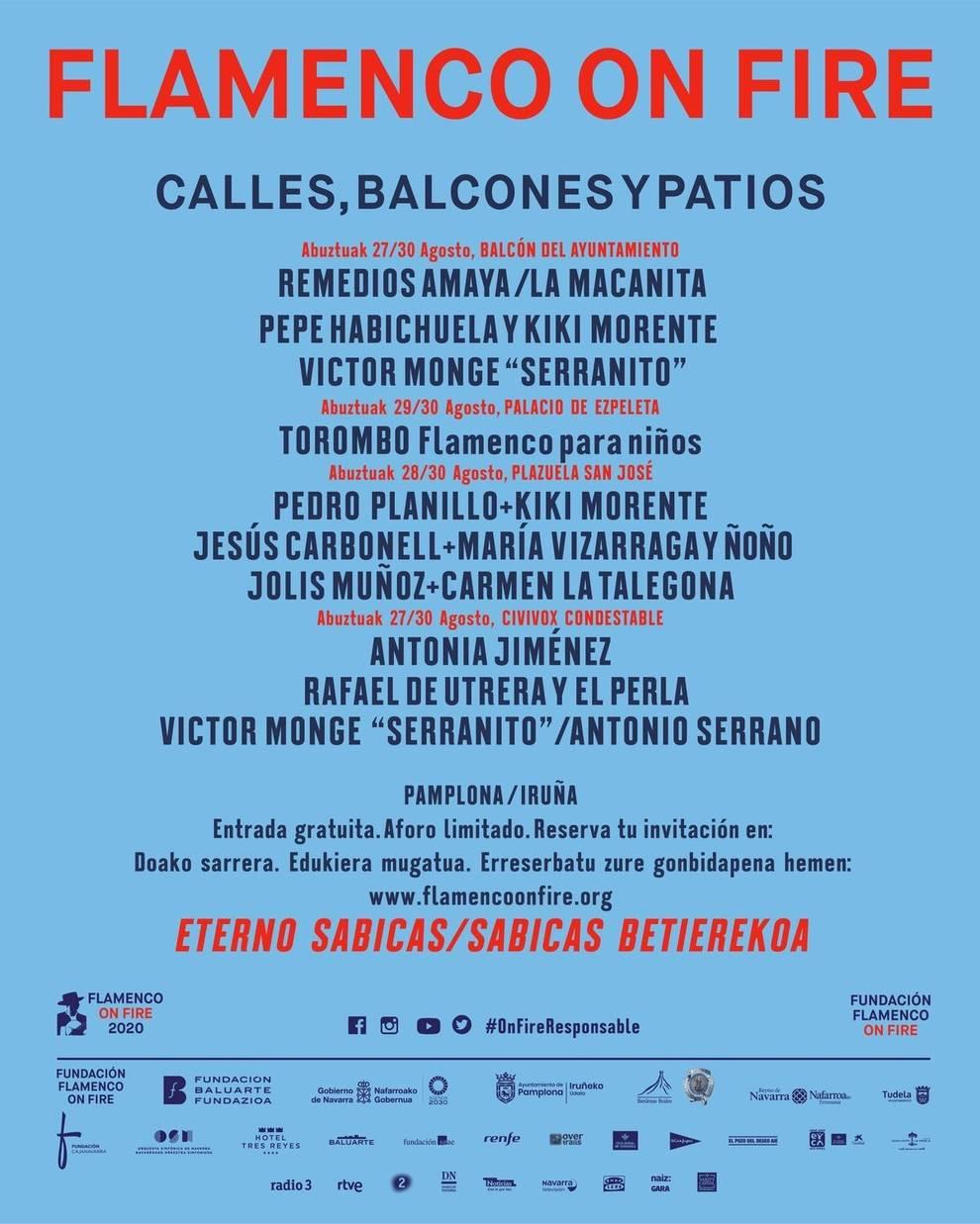 Flamenco on Fire abre el proceso de adquisición de entradas para sus conciertos y actividades gratuitas