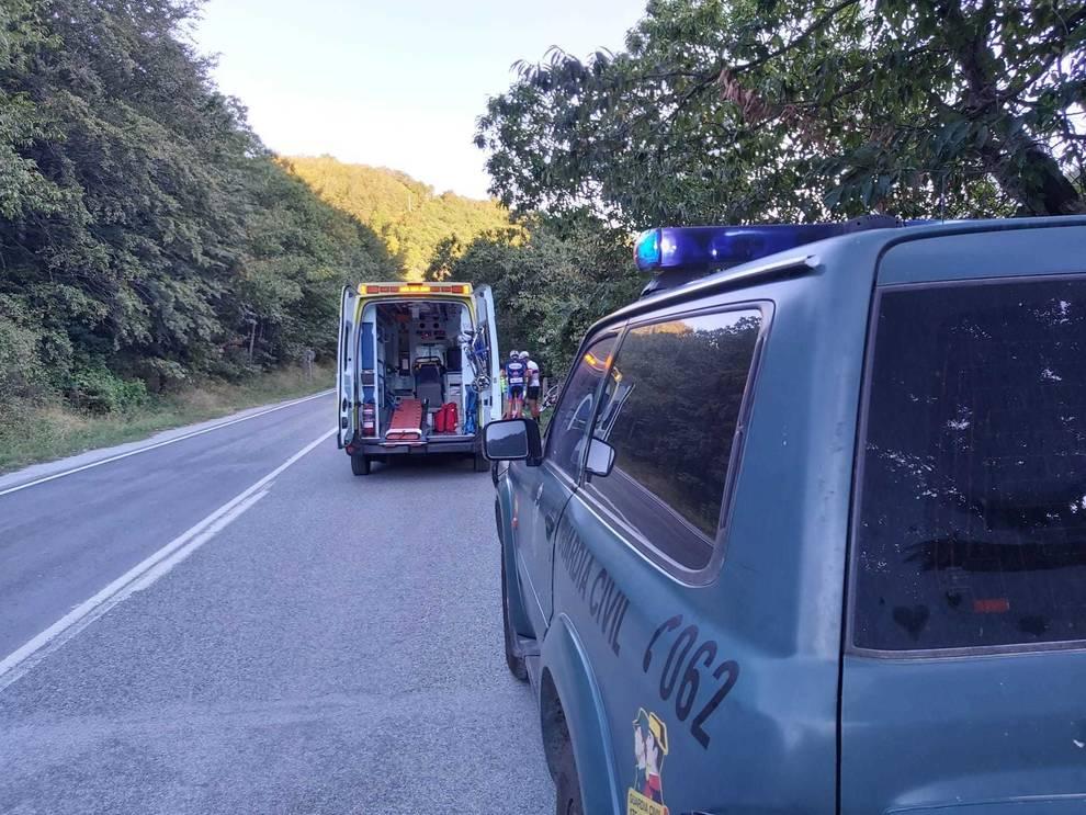 Un ciclista, evacuado al CHN tras sufrir un accidente en Eugi