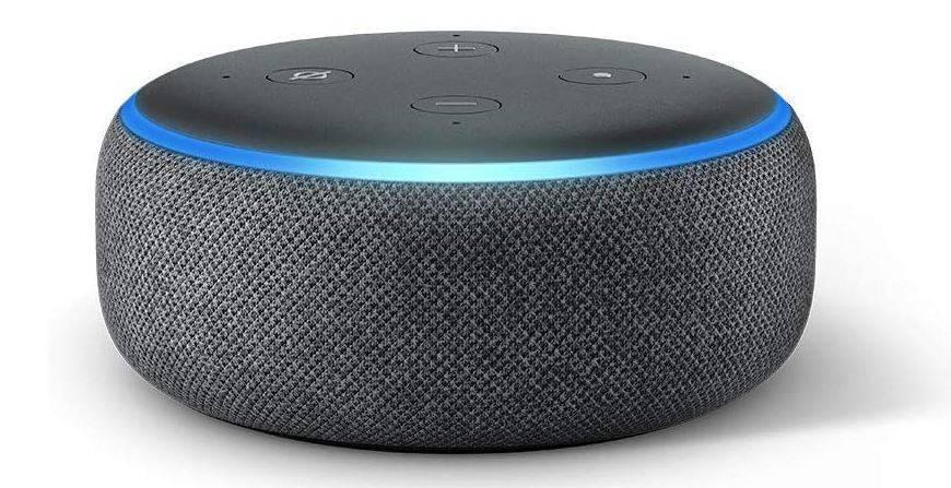 Imagen del altavoz inteligente con Alexa Echo Dot