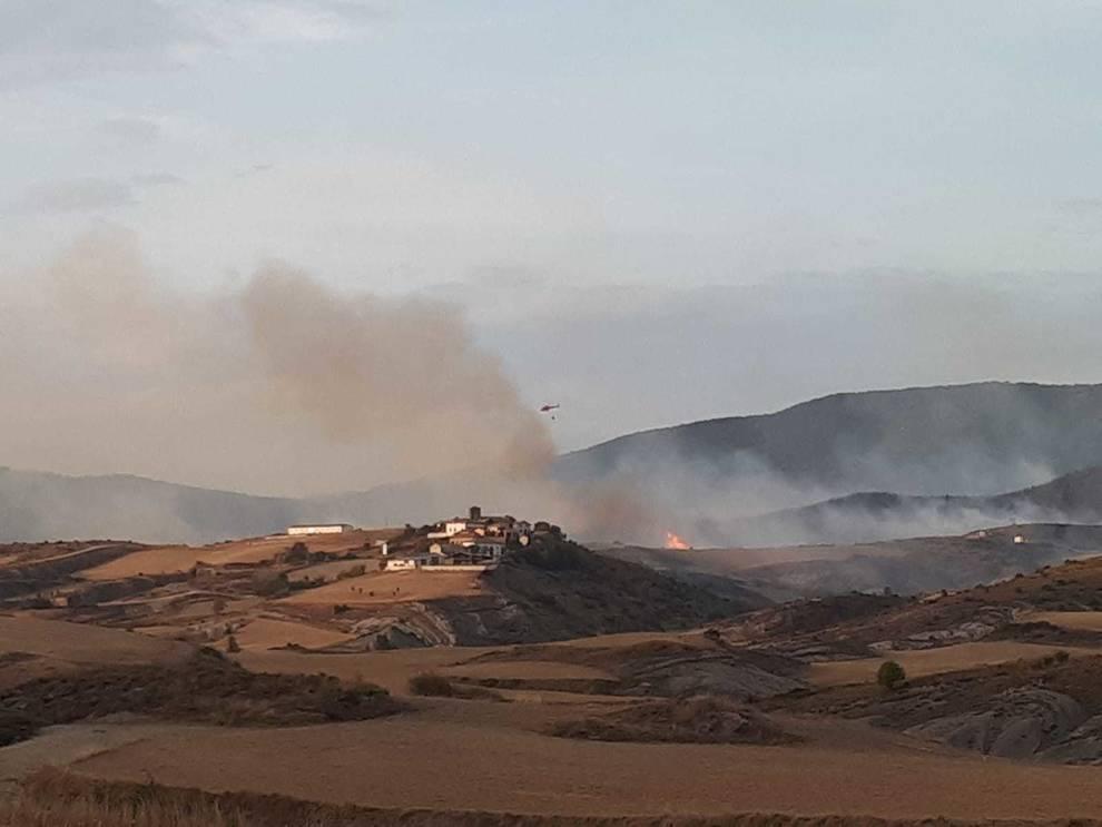 Fotos del incendio en Javerri (Lónguida)
